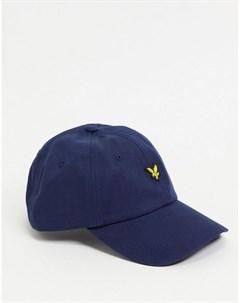 Темно синяя бейсболка с логотипом Lyle & scott