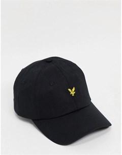 Черная бейсболка с логотипом Lyle & scott