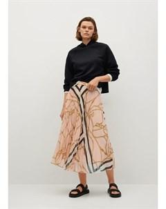Плиссированная юбка с цепями Daisy Mango