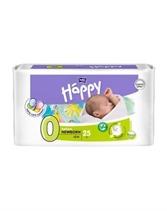 Подгузники Before Newborn 0 2кг 25шт Bella baby happy