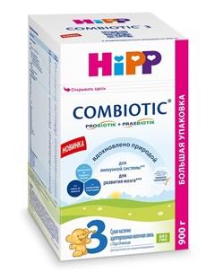 Сухая адаптированная последующая молочная смесь Hipp Combiotic 3 900гр
