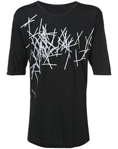 Трикотажная футболка с принтом The viridi-anne