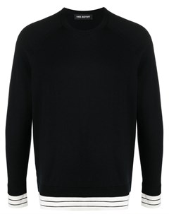 Пуловер с отделкой в полоску Neil barrett