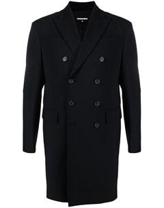 Двубортное пальто с молнией Dsquared2