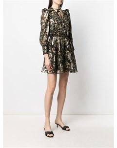 Платье с камуфляжным принтом и эффектом металлик Patrizia pepe
