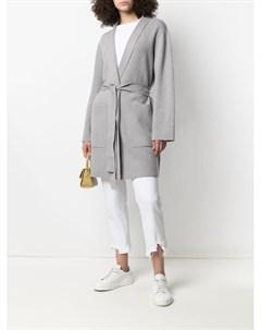 Пальто кардиган с поясом Sminfinity