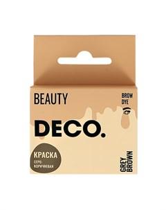 Краска для бровей в саше с окислителем тон серо коричневый 3 мл Deco