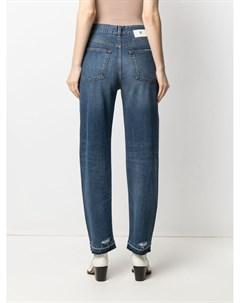Широкие джинсы с завышенной талией Pt05