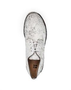 Туфли на шнуровке с эффектом кракле Moma