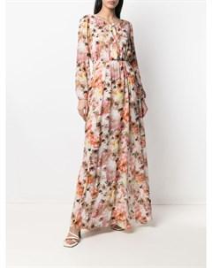 Платье с цветочным принтом и открытой спиной Patrizia pepe