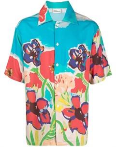 Рубашка с короткими рукавами и цветочным принтом Drôle de monsieur