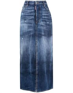 Джинсовая юбка с завышенной талией Dsquared2