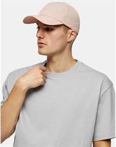 Розовая кепка из жатого нейлона Topman