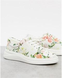Кроссовки на шнуровке с цветочным принтом Anouk Fiorelli
