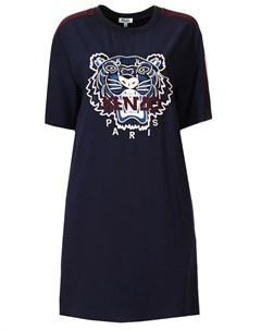 Платье футболка с вышивкой Kenzo