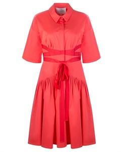 Расклешенное платье из хлопка Carolina herrera