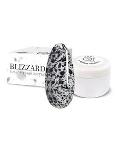 Гель для декора Blizzard 2 черный Qt