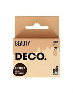 Краска для бровей в саше с окислителем тон темно коричневый 3 мл Deco