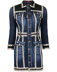 Джинсовое платье с заклепками Dsquared2