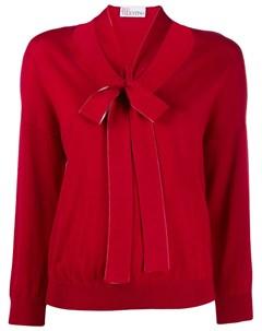 Вязаный свитер с бантом Red valentino