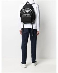 Рюкзак на молнии с принтом Neil barrett