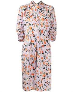 Платье миди с принтом Marni