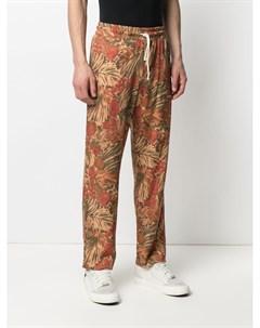 Прямые брюки Hyeres с цветочным принтом Drôle de monsieur