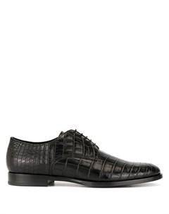 Туфли с тиснением под кожу крокодила Dolce&gabbana