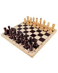 Настольная игра Шахматы обиходные лакированные с доской 29х15 см Рыжий кот