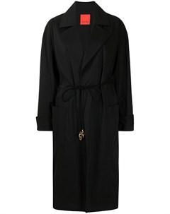 Пальто с заостренными лацканами и кулиской Manning cartell