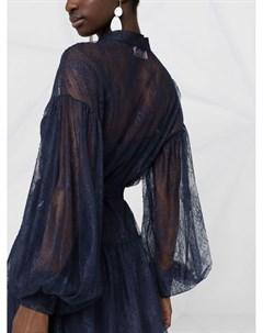 Кружевное платье с пышными рукавами Ermanno ermanno