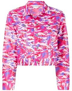 Укороченная куртка с камуфляжным узором Comme des garcons girl