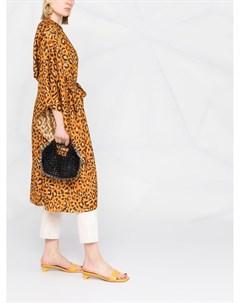 Пальто с леопардовым принтом и поясом Maria lucia hohan
