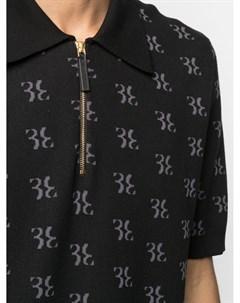 Пуловер на молнии с монограммой Billionaire
