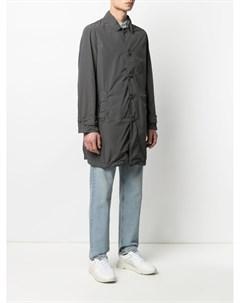 Однобортное пальто на пуговицах Aspesi