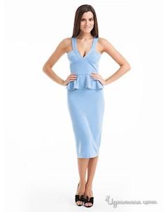 Платье цвет голубой Leo mayers