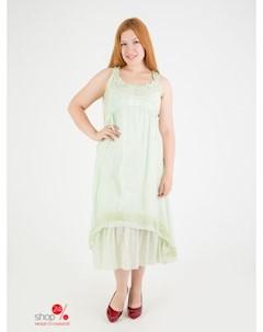 Платье цвет салатовый Domene