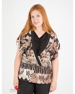 Комплект блуза топ цвет коричневый бежевый Domene