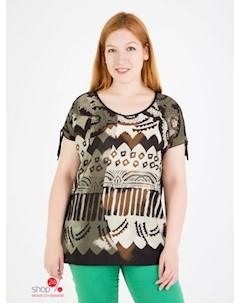 Блуза цвет черный хаки Domene