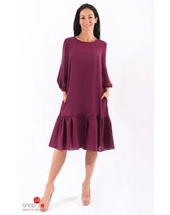 Платье цвет бордовый Hokkoba