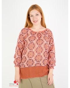 Блуза цвет терракотовый Domene