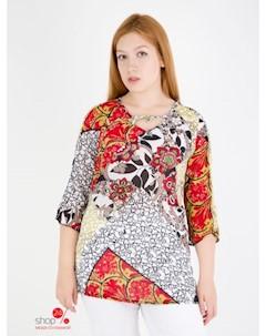 Блуза цвет красный белый Domene