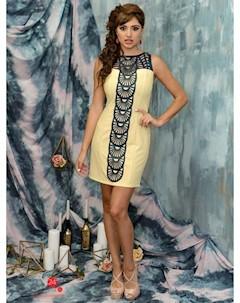 Платье цвет желтый Marafett