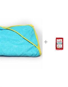 Полотенце уголок детское 90х90 см и губка для тела Массаж La Chista Лес текстиль