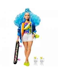 Кукла Экстра с голубыми волосами Barbie