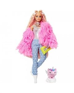 Кукла Экстра в розовой куртке Barbie