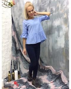 Блуза цвет синий Marafett