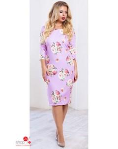 Платье цвет сиреневый розовый Podium