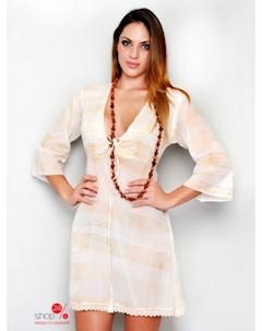 Платье цвет бежевый Hhg