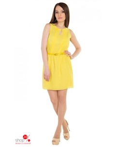 Платье цвет желтый Uamode